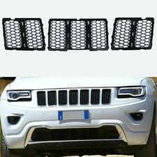 BLK Front Mesh Grill Insert Honeycomb For Jeep Grand Cherokee 2014 2015 2016