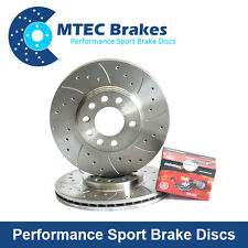 BMW E46 330d 09/01-01/05 Rear Brake Discs And Brake Pads Drilled Grooved