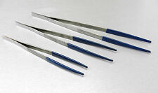 "TWEEZERS STEAM & ULTRASONIC CLEANING PLASTIC COATED TIPS SET of 3pcs 8"" 10"" 12"""