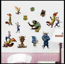 Disney Zootopia Cartoon Animals Wall Stickers Kids Bedroom Decor Car Trunk Decal