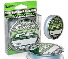 Sunline Super PE 25lb Braid Fishing Line 150m PE 2.5 Lt. Blue New Formula NEW