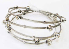 repurposed RECYCLED GUITAR STRING and crystal silvertone handmade bracelet set