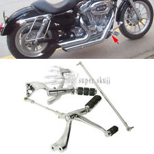Forward Control Complete Peg Lever Linkages For Harley Sportster 883 1200 Chrome