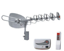 AT-2500 Outdoor Rotating DTV Antenna 1080P HDTV 150 Mile UHF/VHF/FM for 2TV sets