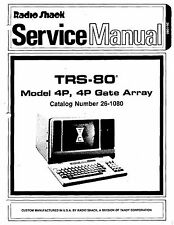 TRS-80 Model 4P 4P Gate Array Service Manual * PDF * CDROM * 26-1080
