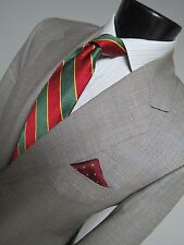 Paul Stuart St Andrews made in Italy super 150s side vented flat front suit 42 R
