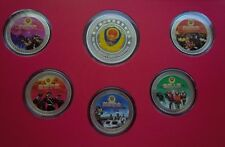 2011 China Police Armed Force Military Set 6 Silver Medal Coin Badge Great Wall