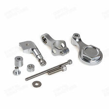 CNC Silver Steering Damper Mounting Kit Fit Yamaha YZF R6 06-15 R1 2009-2012