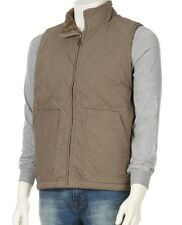 Wolverine - Mens XXL - NWT  Khaki Quilted Canvas Sherpa Fleece Lined Vest Jacket