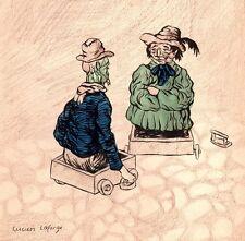 Lucien Laforge. Culs-de-jatte. Encre, crayon et aquarelle vers 1910