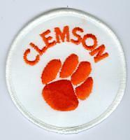 1980s Clemson Tigers 3 inch Embroidered Iron-On Logo Patch