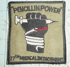 RnR RECOVERY PATCH - PENICILLIN POWER - US ARMY 77th MEDICAL - Vietnam War, 6036