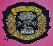 South Lancashire Regiment regimental bullion wire blazer badge British army