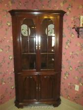 Kling Corner China Cabinet Georgian Court Style Queen Anne Solid Cherry Wood