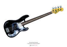 Phil Lynott's Fender P Bass ART POSTER A2 size