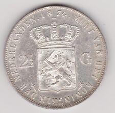 Nederland - 2½ gulden 1874 zwaard + klaverblad Willem III