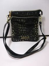 Authentic Betsey Johnson Black Gold Sequin Crossbody Bag Gently Used & Clean