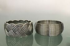 EXPRESS CUFF BRACELET WOVEN BRAID SILVER PEWTER HINGE FASHION JEWELRY