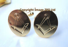 ZP271 Masonic Masons cufflinks Freemason Square Compass Vintage Style