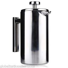 1000ML Cafetiere French Press Filter Double Wall Stainless Steel Coffee Maker