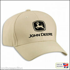 UK SELLER BRAND NEW GENUINE JOHN DEERE KHAKI STONE CAP TRACTOR BASEBALL HAT