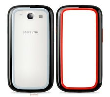2 X Belkin Samsung Galaxy S3 i9300 Surround Bumper Case Red/Black & Black/Grey