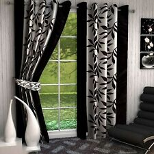 Premium Black Kolaveri 7Ft Door Curtains-Set of 2