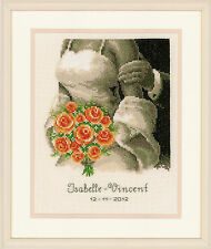The Bouquet : Wedding Record :   Vervaco Counted Cross Stitch Kit - 200275.355