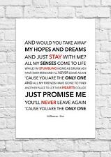 Ed Sheeran - One - Song Lyric Art Poster - A4 Size