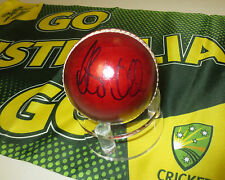 Steve Smith  (Australia) signed Red Cricket Ball + COA + Photo proof signing