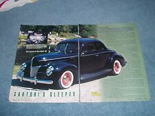 "1940 Ford Deluxe Coupe Vintage Style Hot Rod Article ""Sartori's Sleeper 426 Hemi"