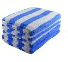 1 NEW WHITE BLUE STRIPE COTTON HOTEL CABANA BEACH TOWEL POOL TOWEL XL 34X68 15#