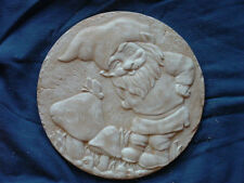 Gnome with Butterfly Garden  Concrete Cement Plaster Stepping Stone Mold 1150