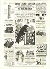 1893 Bertelli's Catramin Pills Anti-septic Tar Oil Richter Puzzles Anchor Box Ad