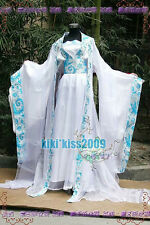 Chinese Fairy's HanFu Light Sky Blue Cosplay China Kimono Dress