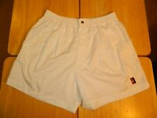 Vintage Men's Nike Tennis Court Challenge Shorts Size Large White Button Zip Fly