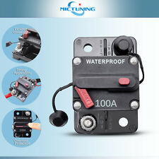 100A Car Circuit Breaker Auto Thermal Trip Inline Fuse Inverter w/ Manual Reset