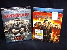 The Expendables 1 & 2 (2012, Blu-ray, 5-Disc) Mint Disc!•No Scratches!