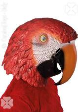 Masque de perroquet en latex masque souple d'oiseau accessoires de deguisement