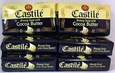 Castile Beauty Soap with Cocoa Butter - 3.9 oz each  (6 Pack)