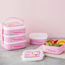 Lock & Lock Hello Kitty Bento Lunch Box Set 3 containers