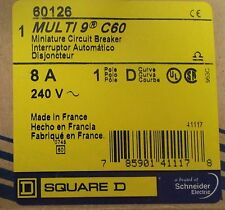 SQUARE D MERLIN GERIN Multi 9 C60 Single Pole 8 Amp Mini Circuit Breaker 60126