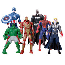 6Pcs The Avengers Action Figures Super Hero Thor Iron man HULK Collection Set
