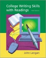 College Writing Skills with Readings by John Langan (2001, CD-ROM / Paperback)