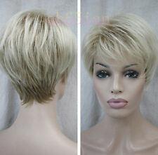 New sexy ladies Short Light Blonde Natural Hair wigs + Free Wig cap
