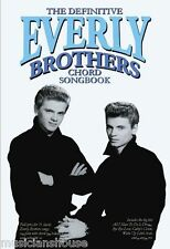 The Definitive Everly Brothers Chord Songbook SONGS Pop Rock Guitar Music Book