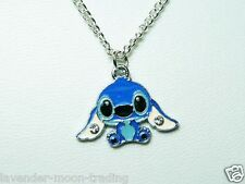 """DISNEY STITCH PENDANT/NECKLACE silver plated 18"""" CHAIN"""