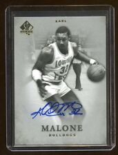 KARL MALONE 2012 SP AUTHENTIC AUTOGRAPH AUTO SP  MINT  BULLDOGS   AZZ LEGEND HOF