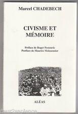 Civisme et mémoire, de 1939 à 1944 Marcel Chabedech