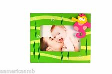Baby Kids Pink SEAHORSE Photo Frame Wooden For 4X6 Picture Green Sea Ocean Table